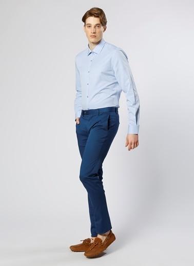 Cotton Bar Klasik Uzun Kollu Gömlek Mavi